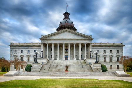 state government: South Carolina state capitol building or Statehouse Stock Photo