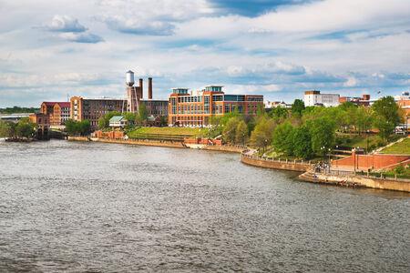 riverfront: Columbus, Georgia, riverfront and downtown