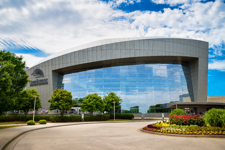 ATLANTA - MAY 21  Front side of Cobb Energy Performing Arts Centre in Atlanta, GA, on May 21, 2014   The center is a primary entertainment venue in Atlanta   Stock Photo - 28514524