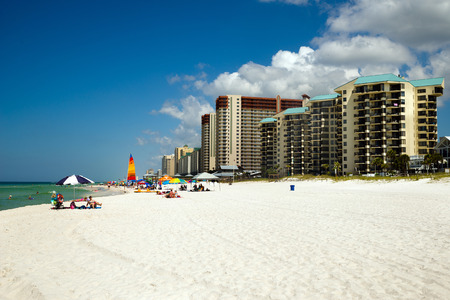 PANAMA CITY BEACH, FL - JUNE 4  Crowds dot the beach in Panama City Beach, FL, on June 4, 2014