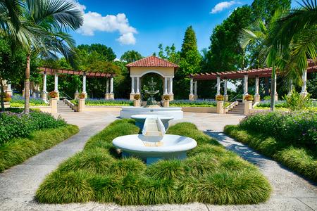 Fountain at public park in Lakeland, Florida