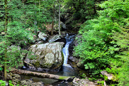 Waterfall at Cloudland Canyon State Park in north Georgia 版權商用圖片