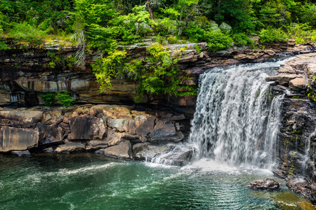 Waterfall at Little River Canyon National Preserve in northern Alabama Imagens