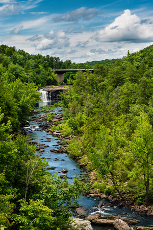 High view of Little River Canyon Federal Reserve in northern Alabama 版權商用圖片 - 29867423
