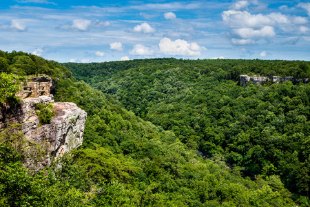 High view of Little River Canyon Federal Reserve in northern Alabama