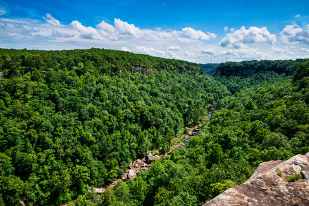 watershed: High view of Little River Canyon Federal Reserve in northern Alabama