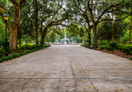 Forsyth Park in Savannah, GA 版權商用圖片 - 32229855