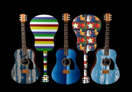 5 Psycadealic Guitars - Eye Catching Guitar Art