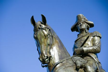 Detail from a statue of George Washington in Boston Public Garden photo