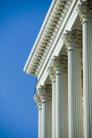 corinthian: Corinthian Columns at the Massachusetts State House Stock Photo