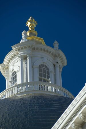 Detail of the dome of the Massachusetts State House photo