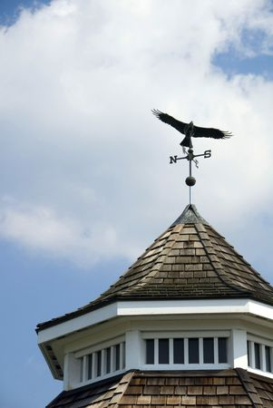 bandstand: Detail of a weathervane on a bandstand