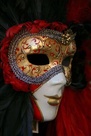 conceal: Close up of a Venetian Carnival Mask