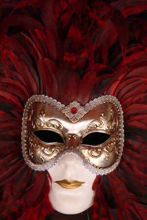 carnevale: Close up of a carnival mask in Venice Stock Photo