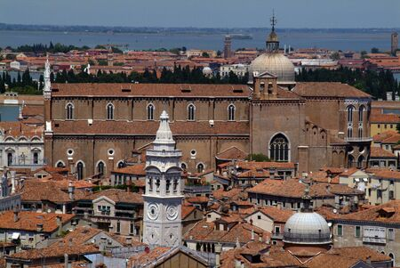 View of Venice from the bell tower photo