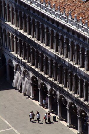 View of St Marks Square from the bell tower photo
