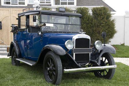 restored: Close up detail of a classic car at a car show