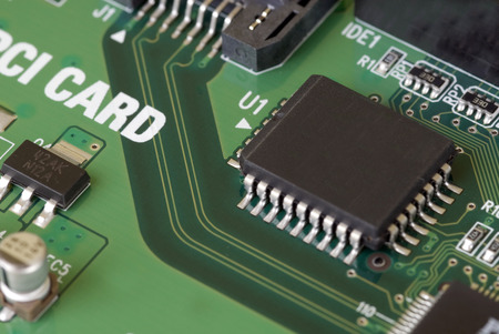 pb: Close-up image of a Serial ATA card on an isolated white background