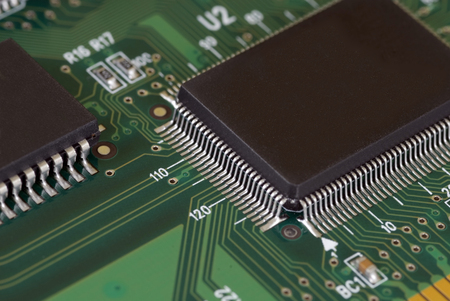 gb: Close-up image of a Serial ATA card on an isolated white background