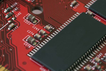 Close up of a modern computer graphics card photo