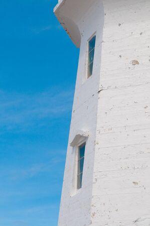 The famous lighthouse at Peggys Cove, Nova Scotia, Canada photo