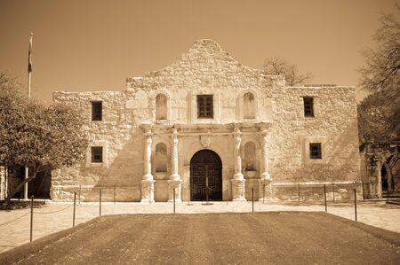The famous Alamo Mission in San Antonio, Texas