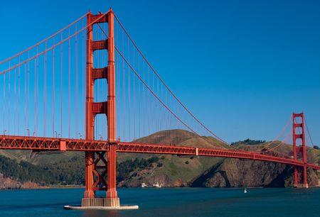 headland: Golden Gate Bridge - San Francisco Stock Photo