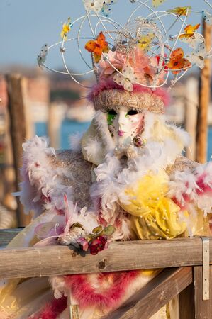 mardigras: Beautiful coloured image of the fantastic costumes on display on the streets of Venice during carnival
