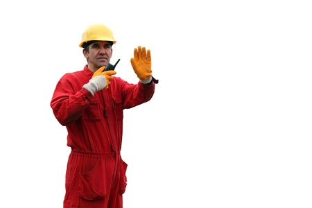 coverall: Industrial Worker - Isolated Over White Background