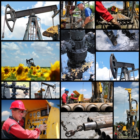 Oil And Gas Industry - Collage   Oil and gas exploration and production   photo