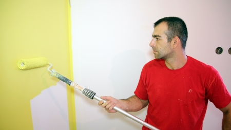 Young Man Painting Apartment