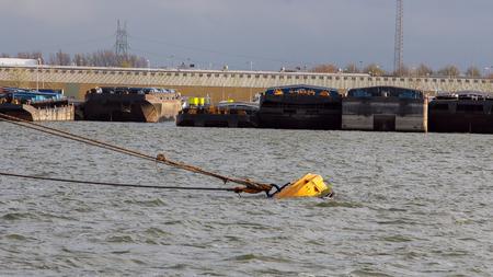 Barges Docked In Port