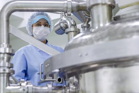 Portrait of Pharmaceutical Worker - Sterile Environment.