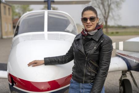 Portrait of Young Woman Pilot