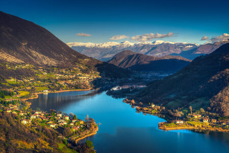 Endine meer, is mooi meer in de buurt van Bergamo