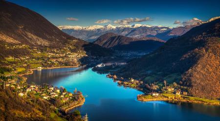 beutiful lake near Bergamo,A great day in Endine Lake Italy