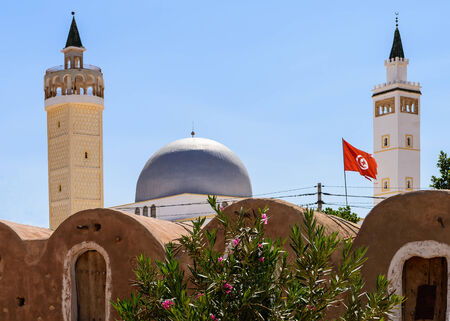 episodes: A nice view of Mosque situated in Tunisia. Stock Photo