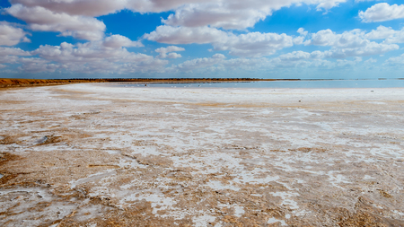 This is a nice view of Salt desert situated in Tunisia,africa. photo