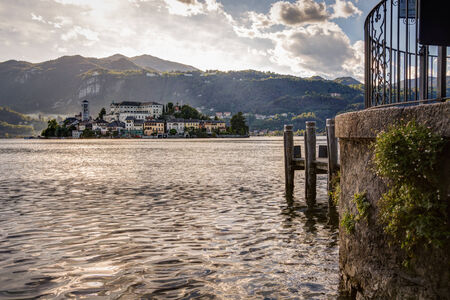 orta: Lake Orta is known as the most romantic lake in Italy. located in Piedmont in northern Italy a few miles away from the largest and most famous lake Maggiore. In the middle of the lake there is the beautiful island of San Giulio.