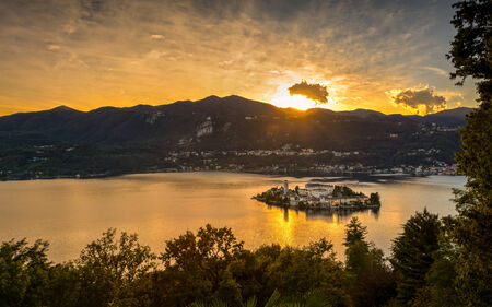 maggiore: Lake Orta is known as the most romantic lake in Italy. located in Piedmont in northern Italy a few miles away from the largest and most famous lake Maggiore. In the middle of the lake there is the beautiful island of San Giulio.