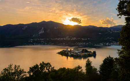 Lake Orta is known as the most romantic lake in Italy. located in Piedmont in northern Italy. In the middle of the lake there is the beautiful island of San Giulio.