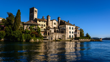 orta: Lake Orta is known as the most romantic lake in Italy. located in Piedmont in northern Italy. In the middle of the lake there is the beautiful island of San Giulio.