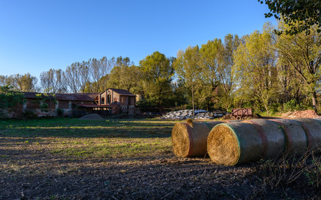 a nice view of old farm situated inside Milan,italy. photo