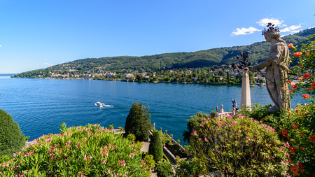 a nice view of Maggiore lake from Isolabella island, Stresa.Italy