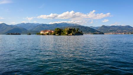 A nice view from Stresa to three island inside Maggiore lake, Isolabella, Pescatori, Madre island. Italy photo