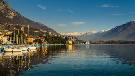 A nice view of Iseo lake from Lovere city,italian lake. Фото со стока - 35797929