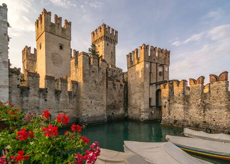 sirmione: A Scaliger Castle (13th Century) Sirmione ,italy. Editorial