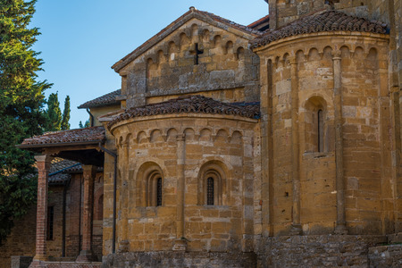 piacenza: In the picture the Collegiate CastellArquato near Piacenza, the church is of medieval origin and dates back to the year 758 . Stock Photo