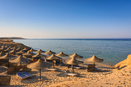Isolated Reefs on Red sea beach resort in Egypt.
