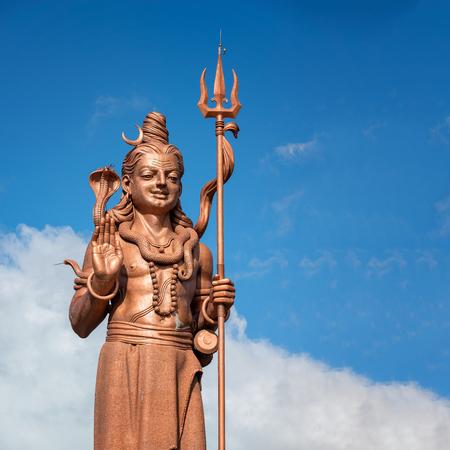 Big and amazing Shiva statue,near grand Bassin temple in Mauritius island.